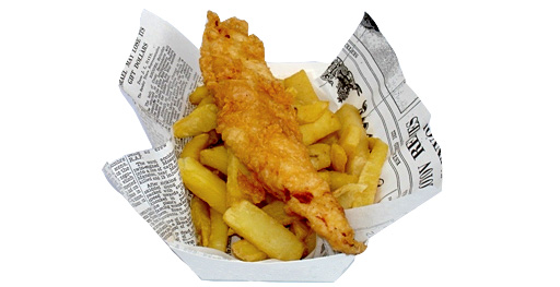 White news offcuts fish and chip paper for Fish and chips newspaper
